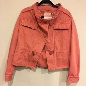 Anthro Salmon Colored Utility Jacket
